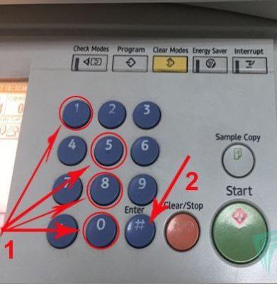 cách reset máy photo ricoh