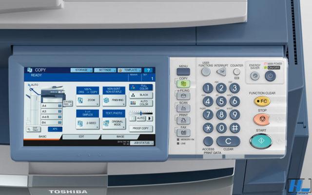 cách lấy file scan từ máy photo toshiba
