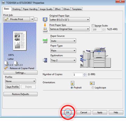 Công việc in riêng (Private Print Jobs)