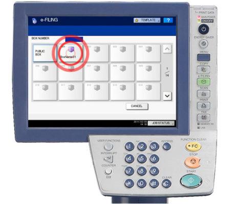 Đối với máy Toshiba E-6570C cách In tài liệu lưu trữ (Print Stored Documents) như thế nào?
