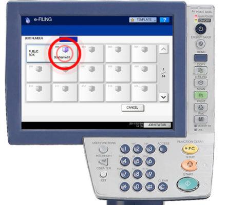 Quét để lưu hồ sơ điện tử (Scan to e-Filing) trên máy Toshiba E-6570C
