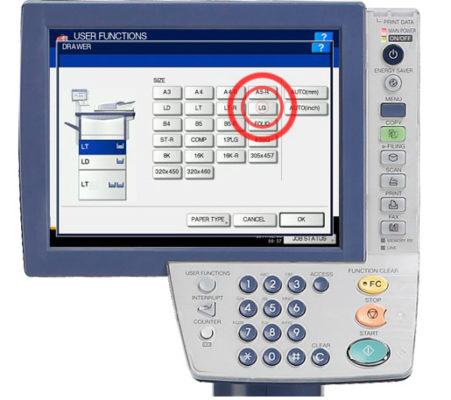Thêm giấy vào ngăn kéo Tandem LCF trong khi chạy (Add Paper to Tandem Drawer LCF While Running)