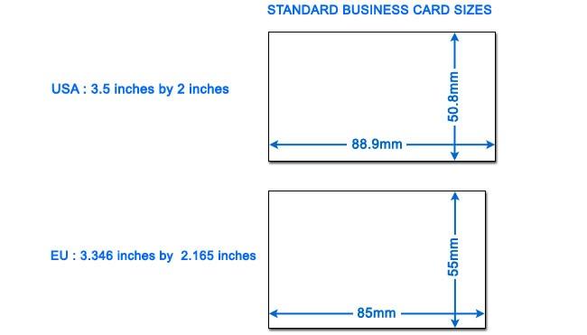 Kích thước chuẩn được nước ngoài sử dụng